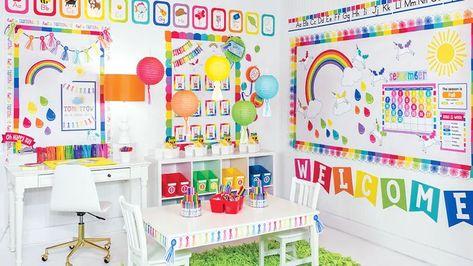 More Samples Hello Sunshine Classroom Decor Preschool Classroom Themes, Daycare Themes, Classroom Decor Themes, School Themes, Classroom Ideas, Future Classroom, Christian Classroom, Schoolgirl Style, Rainbow Theme