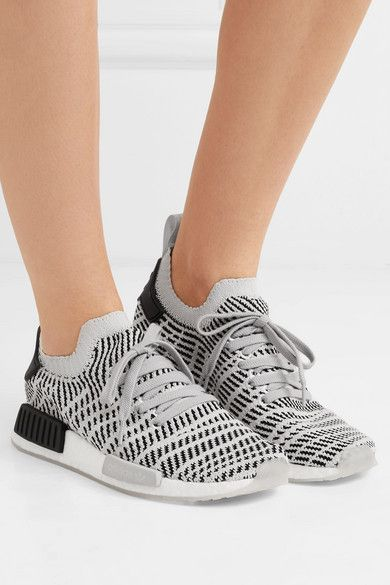 adidas Originals   NMD_R1 rubber trimmed Primeknit sneakers