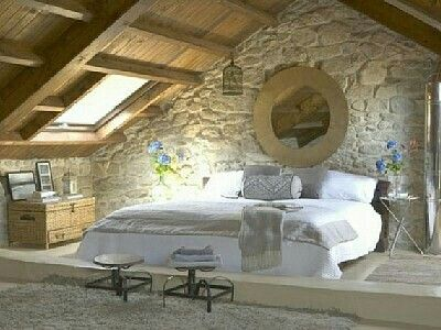 charming stone cottage interior The Home Pinterest Cottage - recamaras rusticas