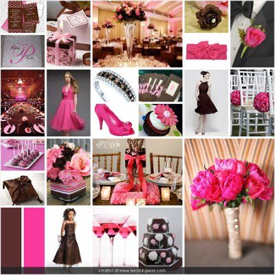 Hot Pink and Chocolate Brown - Wedding Planning - Zimbio | Color ...