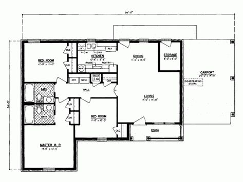 1100 Sq Ft House Plans Google Search Three Bedroom House Plan Country Style House Plans Indian House Plans
