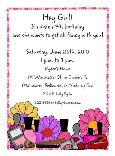 Manicure Makeup Invitations Invite Your Friends To Your