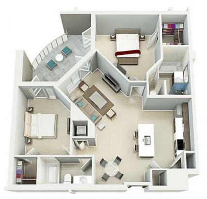 Trendy Home Interior Bedroom Floor Plans Ideas 2 Bedroom Apartment Floor Plan Sims House Plans Apartment Floor Plan