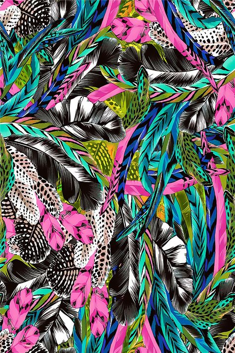 DİGİTAL PRİNT PAİNTİNG FEATHER COLLAGE | Design Patterns Studio