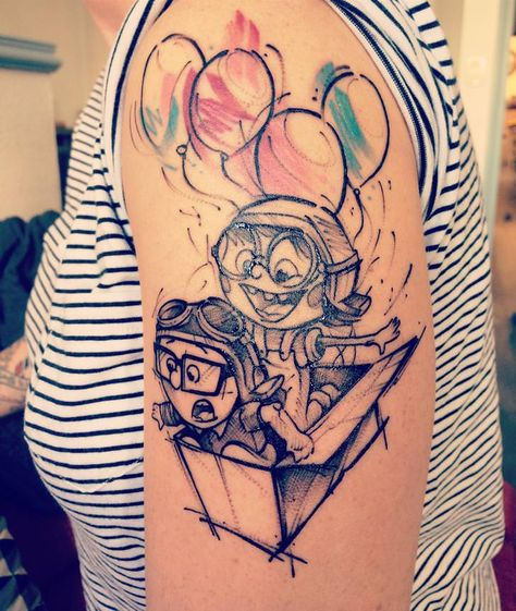 Up tattoo [credit: @knottatoo]