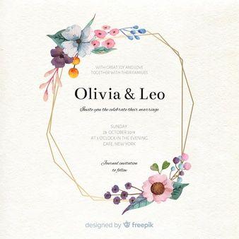 Telechargez Modele D Invitation De Mariage Floral A L Aquarelle