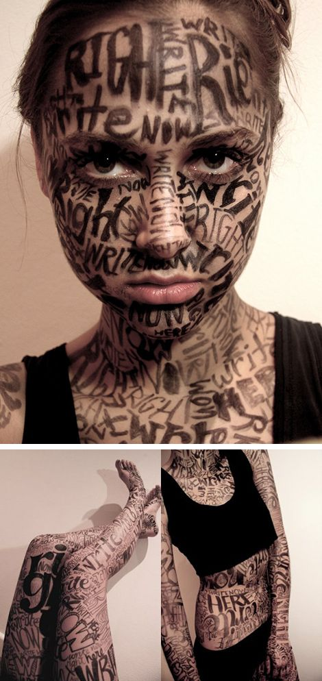 I could do this but with photos of words and phrases on my neck for my self portrait of things that are important or things I love.