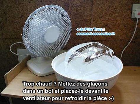 Il fait trop chaud à la maison ou dans votre appartement ? Et vous n'avez pas de climatiseur chez vous ? Ne vous inquiétez pas ! Voici 4 astuces simples pour refroidir sa maison sans utiliser de climatiseur et faire baisser la température. Regardez.  Découvrez l'astuce ici : http://www.comment-economiser.fr/4-astuces-efficaces-pour-refroidir-maison-sans-climatiseur.html?utm_content=buffer05efd&utm_medium=social&utm_source=pinterest.com&utm_campaign=buffer