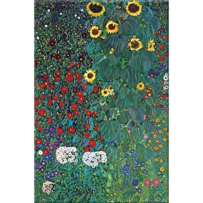 Buyenlarge 'Garden' by Gustav Klimt Print of Painting on Canvas