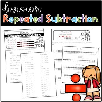 Use These 2 Worksheets As A Way To Practice Division As Repeated Subtraction The First Worksheet Asks Students To Repeated Subtraction Subtraction Number Line