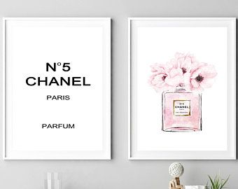 Coco Chanel Print Peony Print Chanel No5 Poster Chanel Wall Etsy Chanel Print Peony Print Fashion Wall Art