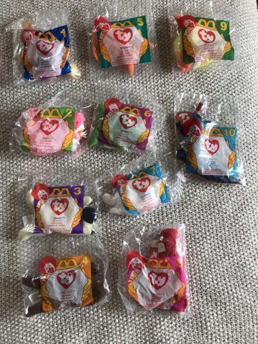 6a76495ed22 Teenie Beanies 441  1996 Mcdonalds Ty Beanie Babies Full Set Of 10 New -   BUY IT NOW ONLY   15 on  eBay  teenie  beanies  mcdonalds  beanie  babies