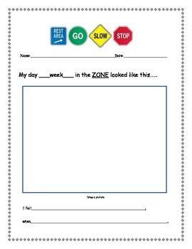Zones Of Regulation Weekly Worksheet
