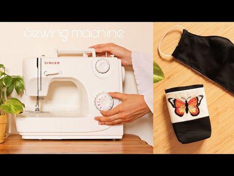 تجربتي الأولى مع مكينة الخياطة من سنجر لمحة سريعة لأول الأعمال Singer Unboxing Youtube Sewing Machine Sewing Rose Gal