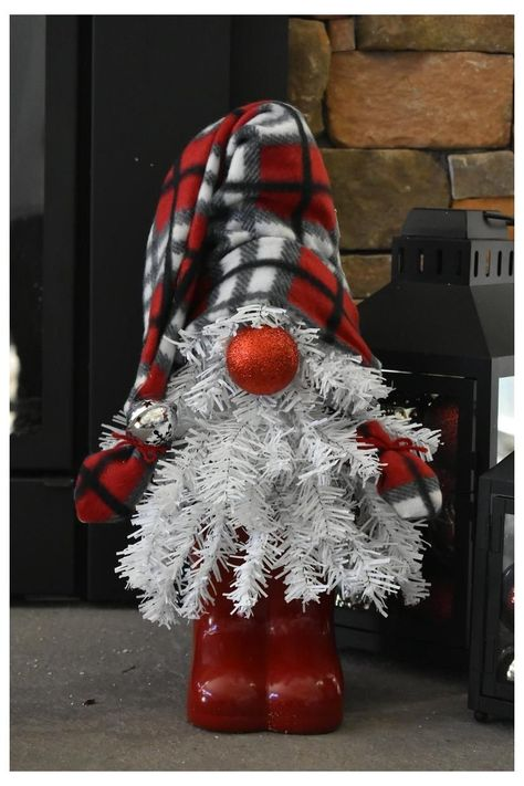 Gnome Christmas Tree Home Holiday Decor | Etsy #how #to #make #glove #christmas #tree #howtomakeglovechristmastree Tis the season! Bring in some Christmas spirit with this handmade Gnome Christmas Tree Home Holiday Decor. The body is a Christmas tree, wearing a comfy hat, gloves and boots. Their sparkly ornament nose adds a touch of glamour. White Christmas Trees, Christmas Gnome, Rustic Christmas, Christmas Projects, All Things Christmas, Christmas Holidays, Christmas Wreaths, Christmas Decorations, Christmas Ornaments