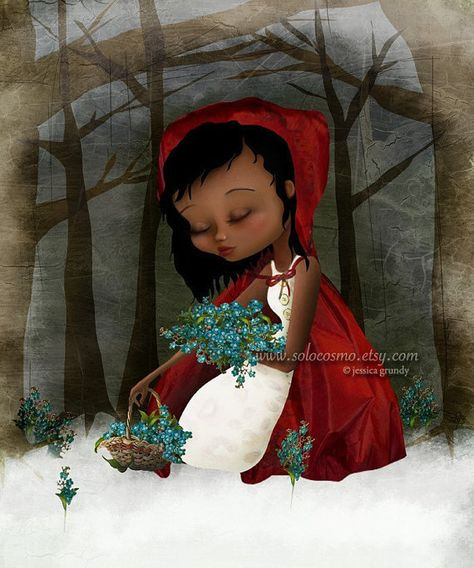 Fine Art Print Red Riding Hood 85x11 or 8x10 A4 by solocosmo, $15.00