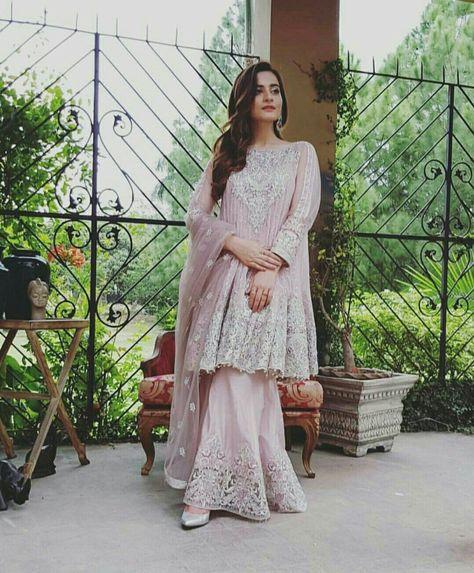 Aiman Khan in Pink Dress