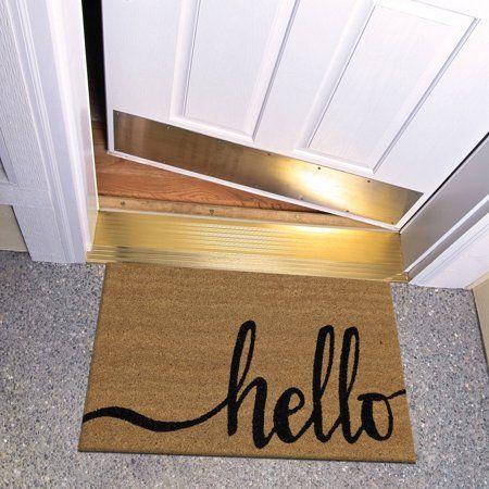 Mainstays Hello Coir Outdoor Mat Moderndecor Outdoor Mat Outdoor Door Mat Porch Mat