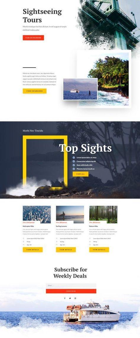 Sightseeing Landing page