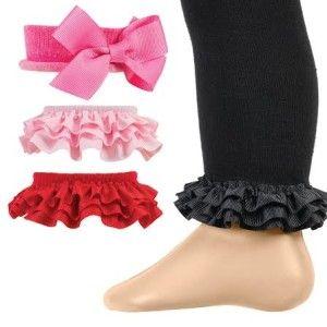 Celegrity Girls Footless Tight Leggings Interchangeable Ruffles