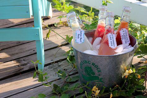 Recipes for Homemade Clementine & Pomegranate Soda, Lemon Basil Soda, and Strawberry Lime Soda