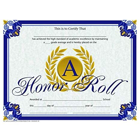 Make The A B Honor Roll Once Honor Roll School Certificates Certificate Templates