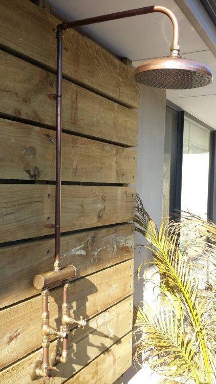 Copper Outdoor Showers Australia Copper Shower Head Outdoor Shower Small Bathroom Diy