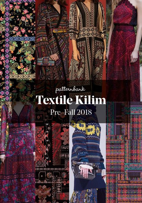 The Patternbank Team have been analysing the latest Pre-Fall 2018 collections and have put together the strongest print trends alongside designs from