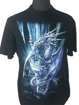 SPIRAL DIRECT DRAGON/'S CRY WHITE TShirt//Biker//Skull//Wild//Mountain//Wings////Tee//Top