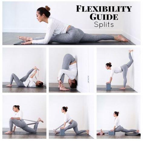 Be inspired by this flexibility splits yoga poses. #yoga