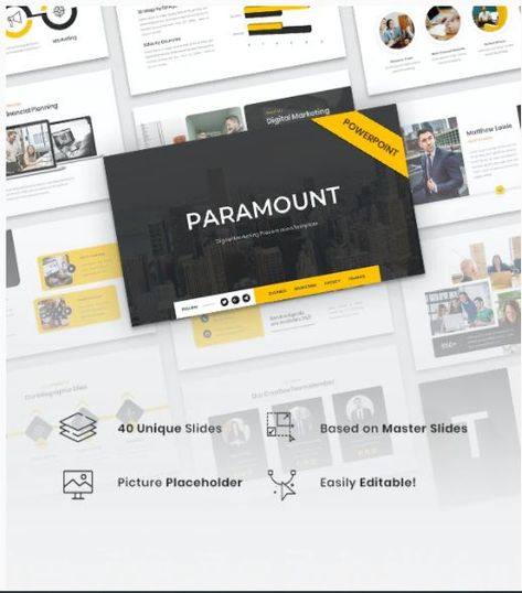 Paramount - Digital Marketing PowerPoint Template