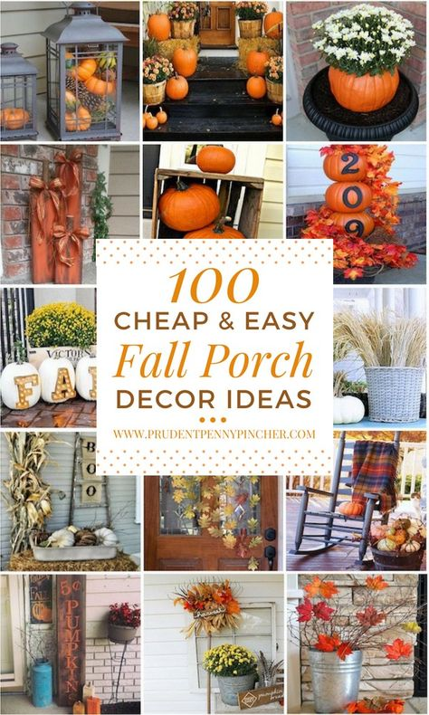 100 Cheap and Easy Fall Porch Decor Ideas