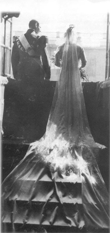Crown Prince Frederick of Denmark and Princess Ingrid of Sweden in the day of their wedding, May 24 1935