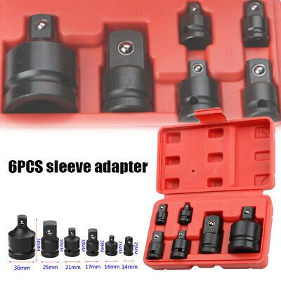 Sponsored Link 6pcs Impact Reducer Sleeve Adapter Socket Wrench 1 4 3 8 1 2 Drive Air Ratchet In 2020 Socket Wrench Set Wrench Set Impact Wrench