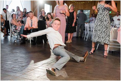 Little kid junior groomsman break dancing | Oak Hills Utah Dusty Rose and Gray Summer Wedding | Jessie and Dallin Photography #utahwedding #utahsummerwedding #summerwedding #mountainwedding #rockymountainwedding #blushandgraywedding #blushandgray #oakhillsutah #utahweddingvenue