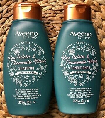 Aveeno Scalp Soothing Shampoo Conditioner Set Rose Water And Chamomile Blend Shampoo Conditioner Set Aveeno Shampoo Rose Shampoo