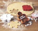 Stampino per biscotti natalizi con messaggio (William-Sonoma)