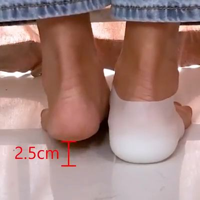 This Invisible Height Increased Insole is a U shaped heel cups to increase your fitness height visibly. No one will know your secret. You'll surely love it!  PRACTICAL & FUNCTIONAL HEELS. Increase your height secretly with this Invisible Height Increased Insoles. This is absolutely a proper support of your feet. Just wear it inside the socks and then put on your usual shoes. Your height will increase exactly at 2.0 cm.  MULTIPURPOSE INSOLES.