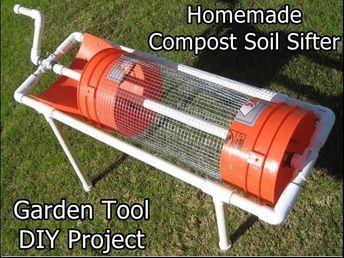 Homemade Compost Soil Sifter Garden Tool Diy Project Regenwurmkompostierung Gartenerde Trommel