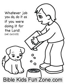 Colossians 3 23 Coloring Page Sunday School Preschool Childrens