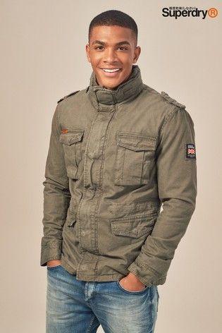 Khaki JacketMens Jackets Superdry Rookie Military Classic CdxQtrsh