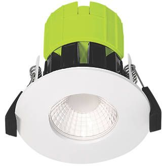 Luceco Ftype Fixed Fire Rated Led Downlight White 800lm 8w 220 240v Downlights Recessed Ceiling Spotlights Led