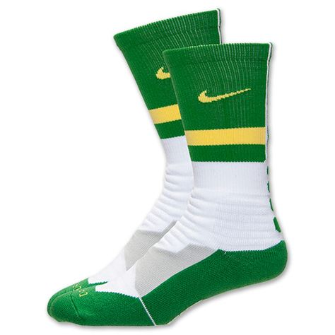 7c601ca68 Nike Hyperelite Fanatical Crew Socks White/Apple Green-Yellow Streak