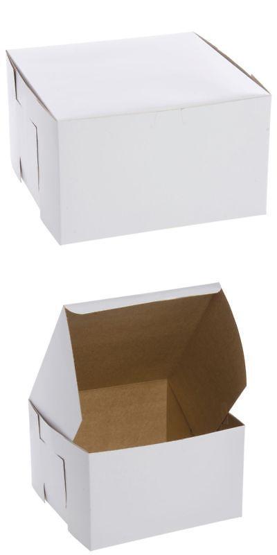 Southern Champion Tray 0979 White Non Window Bakery Box 10 X 10 X 6 H Bakery Box 10 Things Box Cake