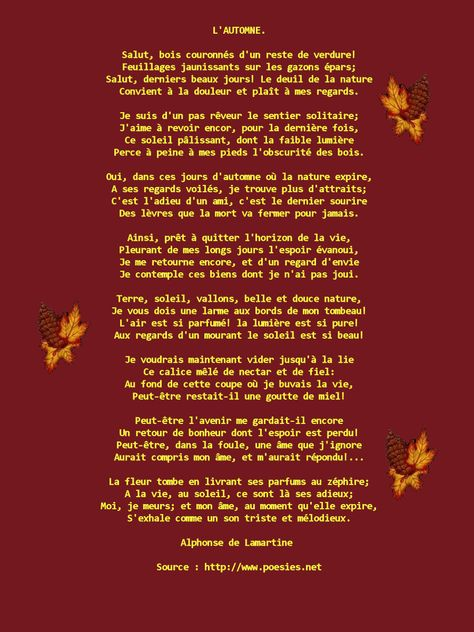 l automne lamartine analyse