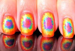 Tie-dye Nails (:
