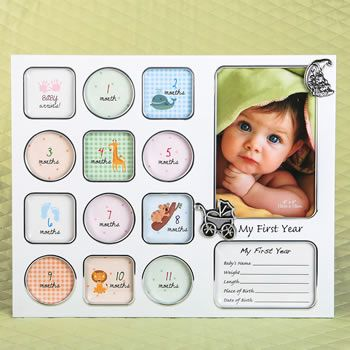 My First Year Baby Photo Collage Frame Framed Photo Collage Baby Photo Collages Baby Collage