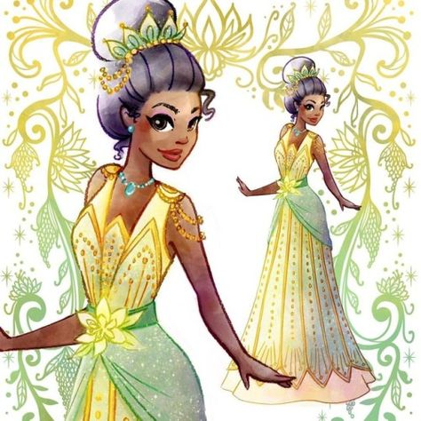 """lainyeeart:  """"Guess who is joining the Deco Disney club. 😬 Just in time for SVCC next weekend! #siliconvalleycomiccon #svcc #artdeco #tiana #princessandthefrog #disney #decodisney  """""""