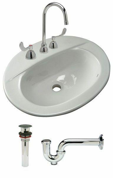 MEDIUM 17x14 MEXICAN BATHROOM SINK CERAMIC DROP IN UNDERMOUNT BASIN #074