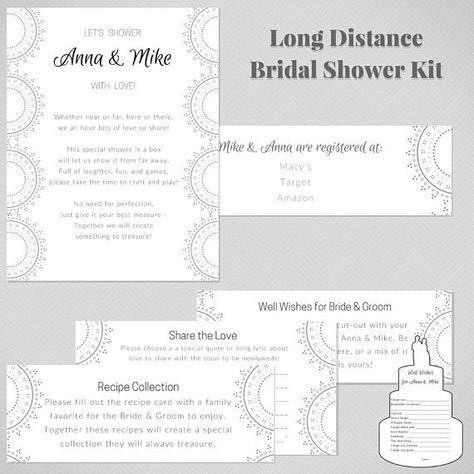 virtual bridal shower kit long distance wedding shower activities and well wishes bridal